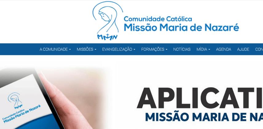 Sites católicos e Arrecadação do Dízimo Online - Comunidade Católica Missão Maria de Nazaré